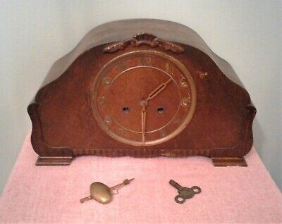 Vintage Ornate and Decorative Large Striking Mantel Clock in Working Order