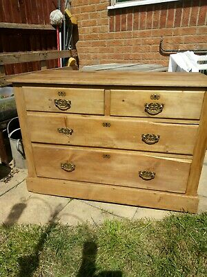 Victorian Pine Chest Drawers 2 over 2