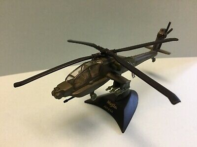 NIB 1998 MAISTO TAILWINDS AH-64A MILITARY HELICOPTER DIE CAST BOX W//WEAR