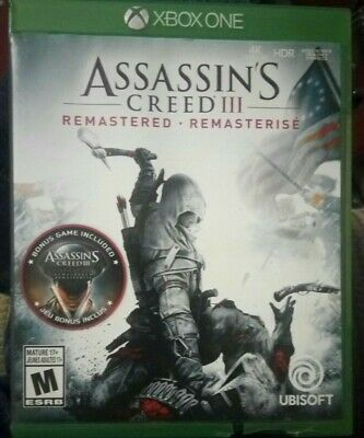 Ubisoft Assassin S Creed Iii Remastered Video Game For Xbox One