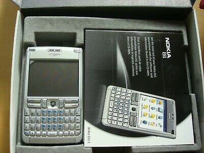 Boxed Silver Nokia E61 locked H3G 64MB QWERTY Keypad very little use