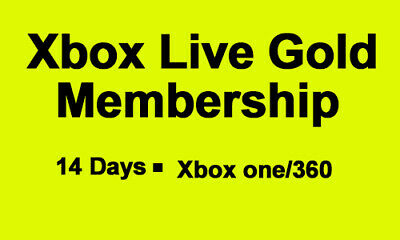 Microsoft Xbox Live 14 Days Trial Instant Delivery Xbox One/360 Gold Membership