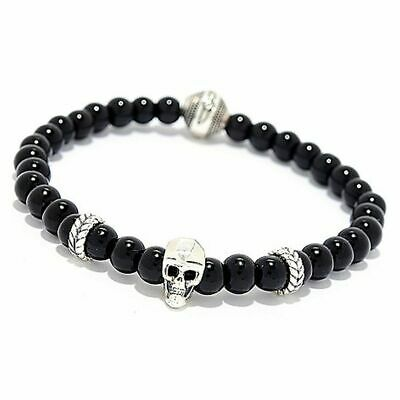 Details about  /Invicta Sterling Silver 925 Tigers Eye Stretch Slip On Bracelet New
