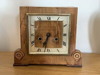 Antique Art Deco 1930's Quality Chiming 8-day Mantle Clock -