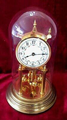 Nice Quality German 400 Day, Anniversary, Torsion Clock With Dome