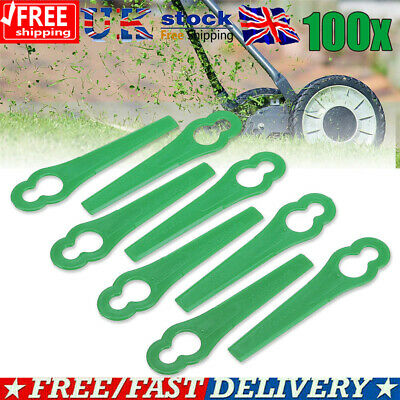 100X Plastic Blades Set Cutter Replace For Cordless Grass Trimmer Strimmer