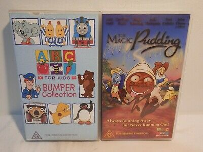 Vhs Tapes - Abc For Kids Bumper Collection And The Magic Pudding