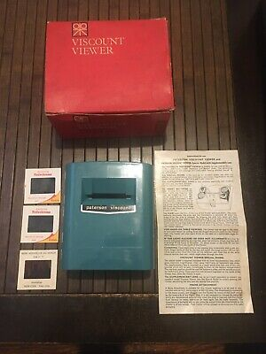 Vintage PATERSON viscount Viewer For 35 MM And 4*4 Cm.