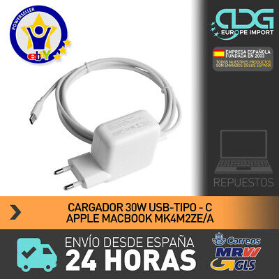 Cargador Tipo C 29W con cable MacBook type C charger with cable. ENVIO 24H