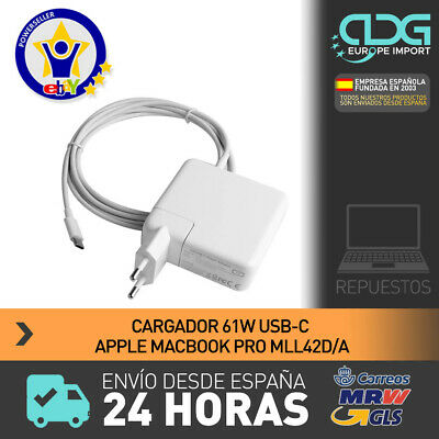 Cargador Tipo C 61W con cable MacBook type C charger with cable. ENVIO 24H