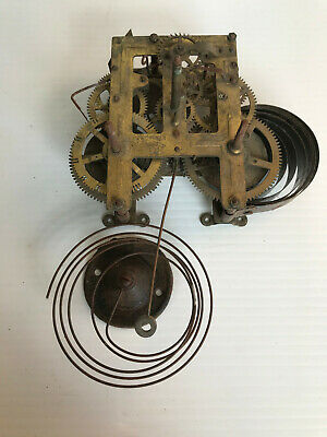 Antique Large  American type wall clock movement
