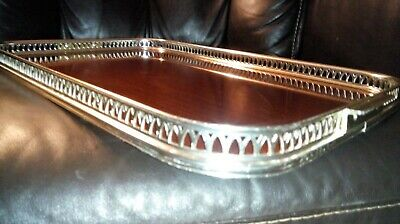 Large Vintage Retro Formica Galleried Serving Tray