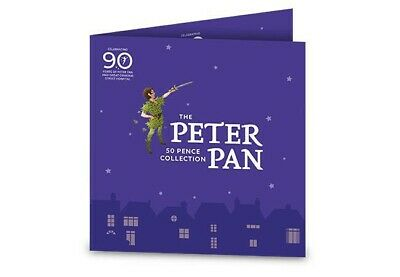 2019 IOM : BU : Official Peter Pan 50p Coin Set : Brilliant Uncirculated SEALED
