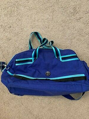 IVVIVA- Duffel Bag- Royal blue with patterned lining