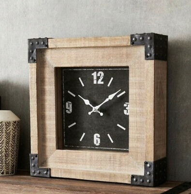 NEXT Salvage Wood Mantle Clock