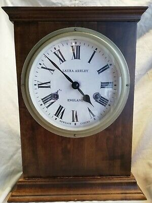 Laura Ashley/Newgate wooden Mantle Clock – good condition