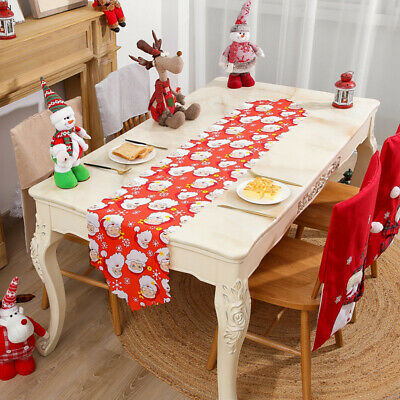 Christmas Tablecloth Table Runner Coffee Table Restaurant Table Top Decorative 4 80 Picclick Uk