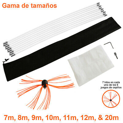 Deshollinador Cepillo Nylon Cepillo Kit Flexibles Varillas