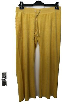 Genuine Juicy Couture Yellow Velour Tracksuit Trousers Large 5 00 Picclick Uk