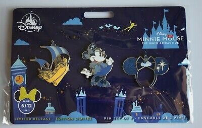 Disney Minnie Mouse Main Attraction Pins June Pin Set Peter Pan Flight 6/12