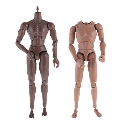 1//6 Action Figure Male Muscle Nude Body Model Toy Military Combat for TTM-18//19