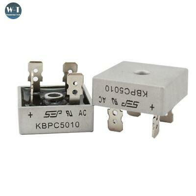 2-15PCS KBPC5010 50A 1000V Phases Diode Bridge Rectifier Metal Case Diode Bridge