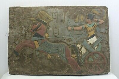 RARE ANCIENT EGYPTIAN ANTIQUE RAMSES II KADESH BATTLE Stella 1875-1840 BC