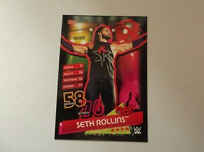 "WWE / Topps Slam Attax Reloaded ""SETH ROLLINS"" #39 Trading Card"