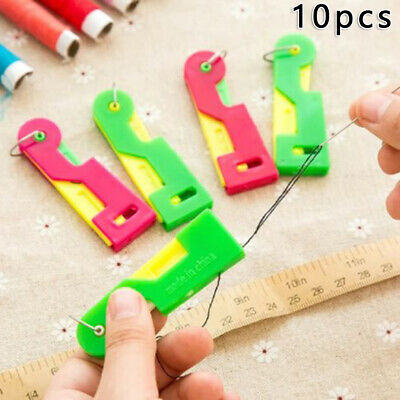 10Pcs Needle Device Automatic Needle Threader Thread Guide Sewing Machine Gadget