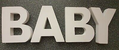 White Wooden hanging BABY Letters