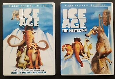 Ice Age And Ice Age The Meltdown 2 Dvd Movie Lot Plus 2 Toys Sid And Diego 7 99 Picclick
