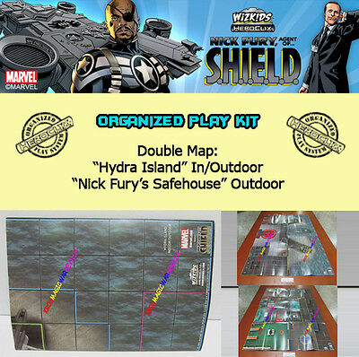 "HEROCLIX AVENGERS ASSEMBLE OP KIT Mapa//Map ""Arcade's Arena""// ""Avengers Compound"""