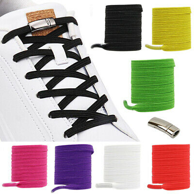 Magnetic Shoelaces Elastic No Tie Shoe Laces Kids Adult Flat Shoelace