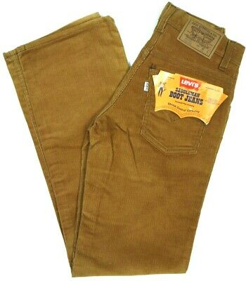 Vintage 70s Levis 716 Brn Corduroy Pants Boot Jeans Saddleman NOS NWT 25x30 USA
