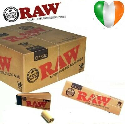 RAW RIZLA Classic Rolling Papers King Size Slim 110mm with Roach Filter Tips