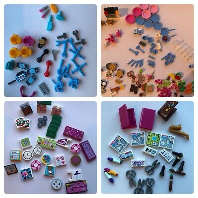 ☀️LEGO FRIENDS ACCESSORIES LOT Bag Makeup More Parts Pieces Girl Color New