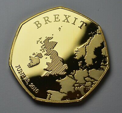 Brand New BREXIT 24ct Gold Commemorative. 31st JANUARY 2020. UK Politics Europe