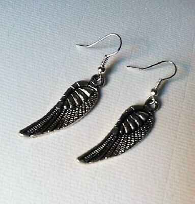 Argent Filigrane Boucles D/'oreilles Long Dangle Hématite tibétain /& 925 Sterling Silver Hook