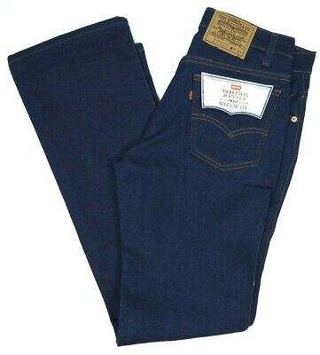 Vintage 80s Levis 517 Dark Jeans Mens 32x34 NWT Deadstock Stretch NOS Boot Cut