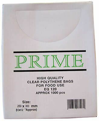 Smith & Bateson Clear Poly Weighout Bags (1000 Pack) 10x12 inch Sundries BN