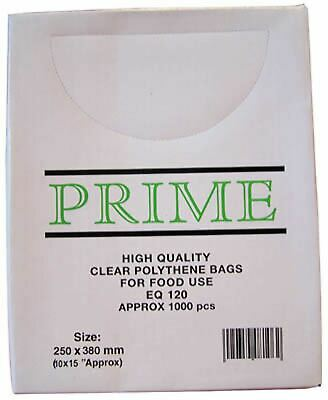 Smith & Bateson Clear Poly Weighout Bags (1000 Pack) 10x15 inch Sundries BN