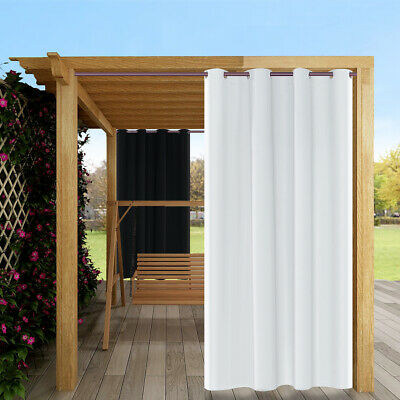 """2X Thermal Outdoor Waterproof Grommet Blackout Window Porch Curtain Panel 50x84/"""""""