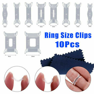 10 X Invisible Design Ring Size Reducer Resizer Adjuster Clip Guard SNUGGIES UK
