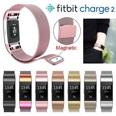 For Fitbit Charge 2 Milanese Strap Replacement Magnet Band Metal Stainless Steel