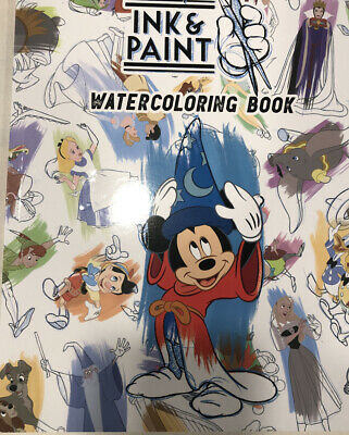 2020 Disney Ink And Paint Water Coloring Book Castle, Mickey, Cinderella, Dumbo
