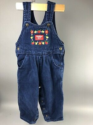 VINTAGE OshKosh B'gosh USA Toddler Girls 2T Vestbak Jumper Bibs Denim Romper