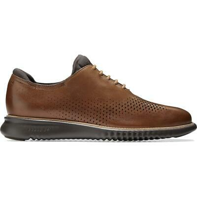 Cole Haan Mens 2.ZEROGRAND Leather Lace-Up Perforated Oxfords Shoes BHFO 3584