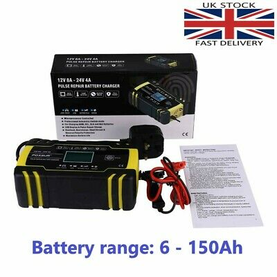 Automatic Electronic Intelligent Smart Fast Battery Charger Car 12 24v AGM