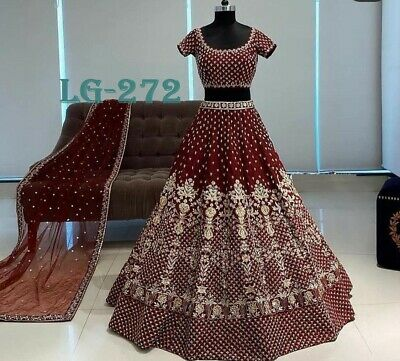 Fancy Casual Collection Indian Lengha Choli With Printed Design Lengha LG-261