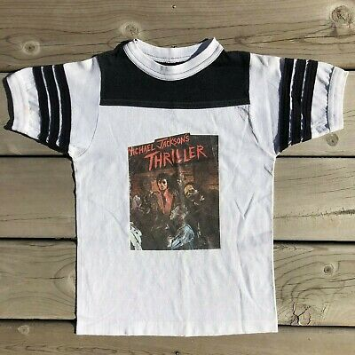 Vintage 80s Michael Jackson Thriller T Shirt Kids Youth Small S Bad Billie Jean